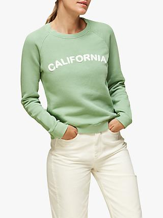 Whistles California Cotton Sweatshirt, Mint