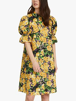 Gestuz Cassia Puff Sleeve Dress, Multi