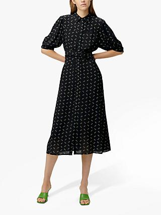 Gestuz Belina Ditsy Print Dress, Black