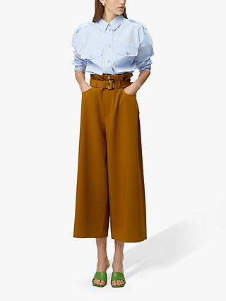 Gestuz Lynne Belted Trousers, Yellow