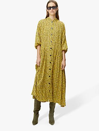 Gestuz Thallo Ditsy Floral Maxi Dress, Yellow