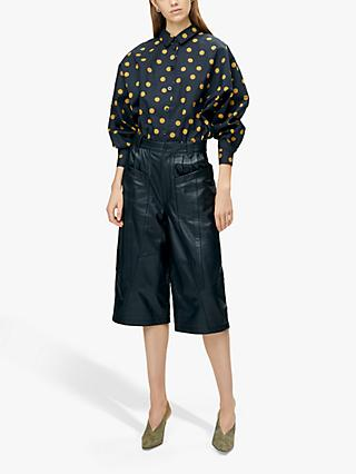Gestuz Jacinta Spot Shirt, Black/Yellow