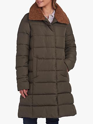 Barbour Wilderness Collection Valerie Quilted Longline Coat, Olive Green