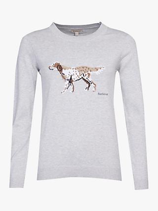 Barbour Saddle Dog Graphic Jumper, Grey