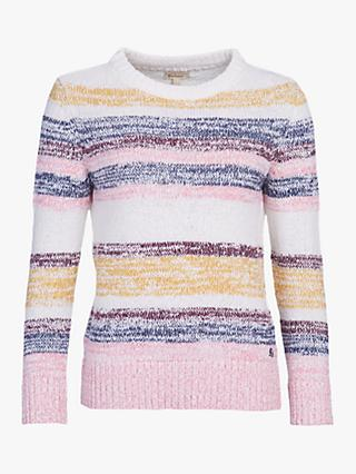Barbour Auklet Boucle Stripe Crew Neck Jumper, Multi