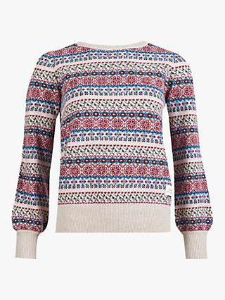 Barbour Poplars Fair Isle Print Jumper, Multi