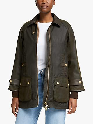 Barbour Norwood Waxed Jacket, Olive