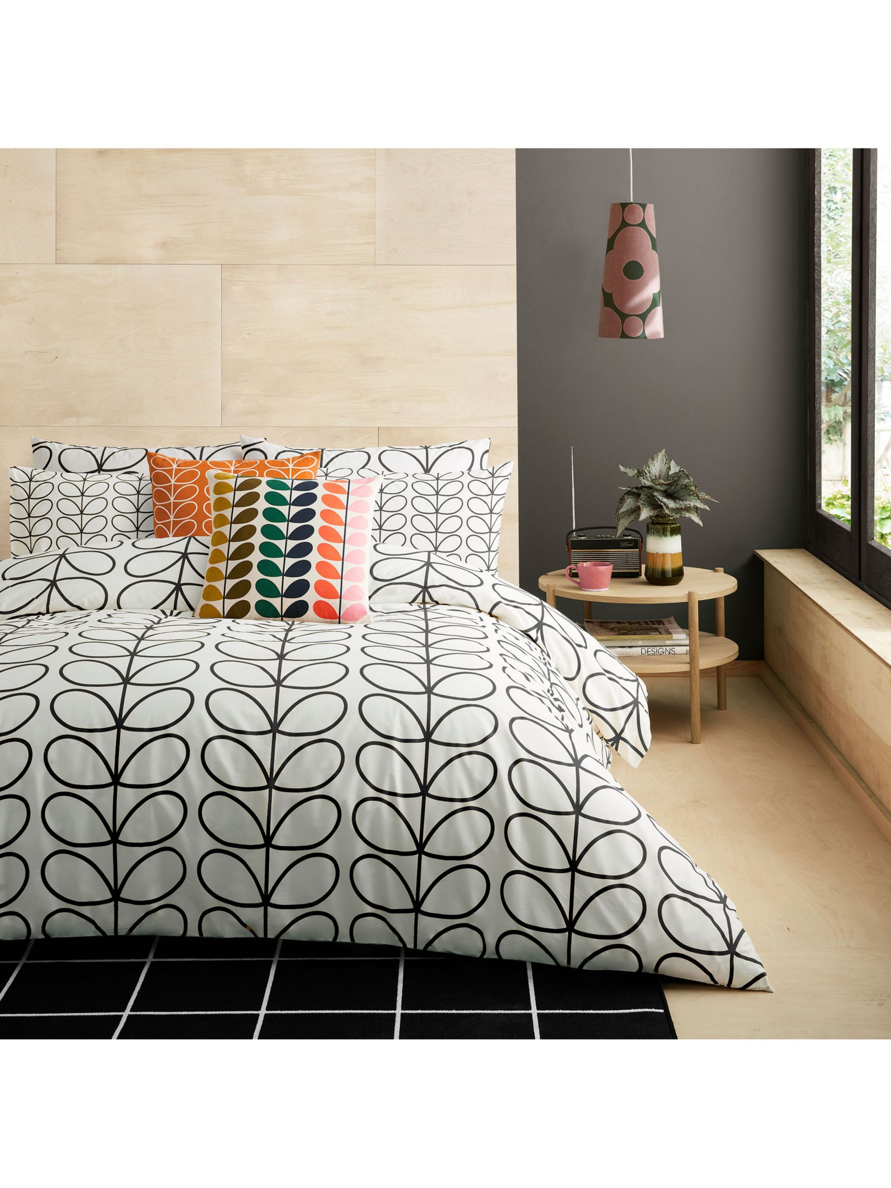 Orla Kiely Linear Stem Brushed Cotton Duvet Cover Set