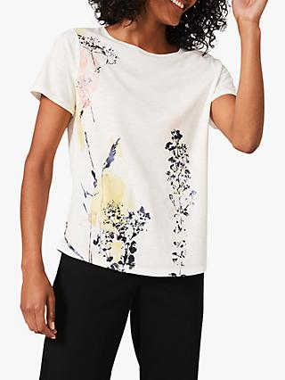 Phase Eight  Kerria Floral Print T-Shirt, Ivory