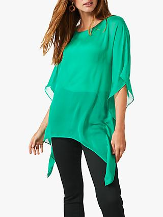 Phase Eight Maggie Asymmetric Silk Blouse, Green