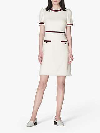 L.K.Bennett Leni Tailored Mini Dress, Cream