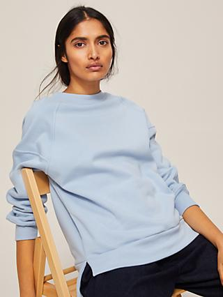 Kin Panelled Raglan Sleeve Sweatshirt, Light Blue