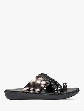 FitFlop Leather Scallop Sliders