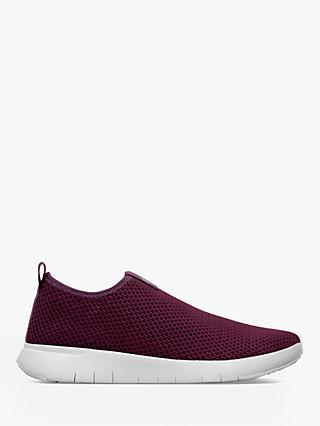 FitFlop Airmesh Slip-On Trainers, Betroot