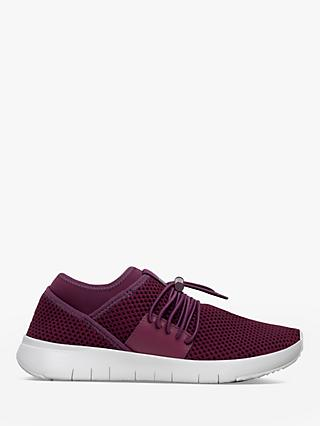 FitFlop Airmesh Toggle Slip-On Trainers, Beetroot