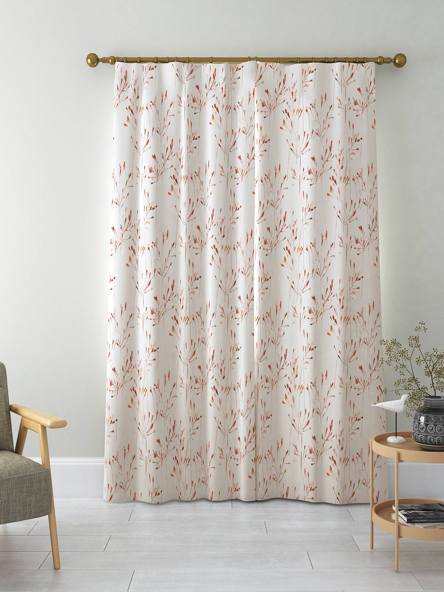 Buy John Lewis & Partners Nerine Pair Blackout Lined Pencil Pleat Curtains, Red, W167 x Drop 137cm Online at johnlewis.com