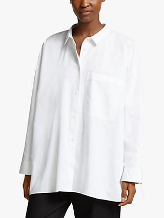 Kin Oversized Organic Cotton Shirt, White