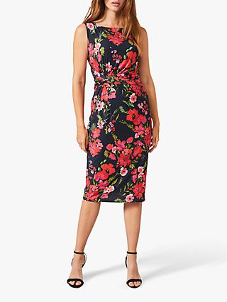 Phase Eight Catrin Floral Print Knee Length Dress, Multi