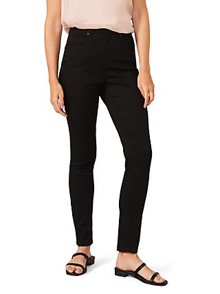 Phase Eight Aida High Waisted Skinny Jeans, Black