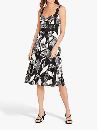 Damsel in a Dress Zayna Monochrome Print Knee Length Dress, Black/Multi