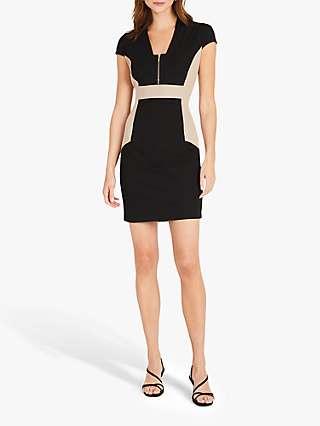 Damsel in a Dress Bonnie Colour Block Tailored Dress, Stone