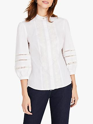 Damsel in a Dress Emersyn Lace Detail Blouse, Ivory