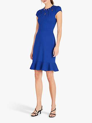 Damsel in a Dress Lelly Peplum Hem Midi Skirt, Cobalt
