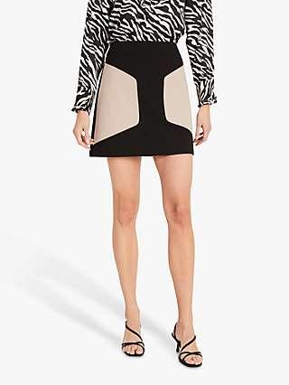 Damsel in a Dress Bonnie Colour Block A-Line Mini Skirt, Stone