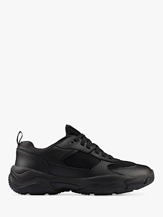 Clarks Youth Kuju Run School Shoes, Black
