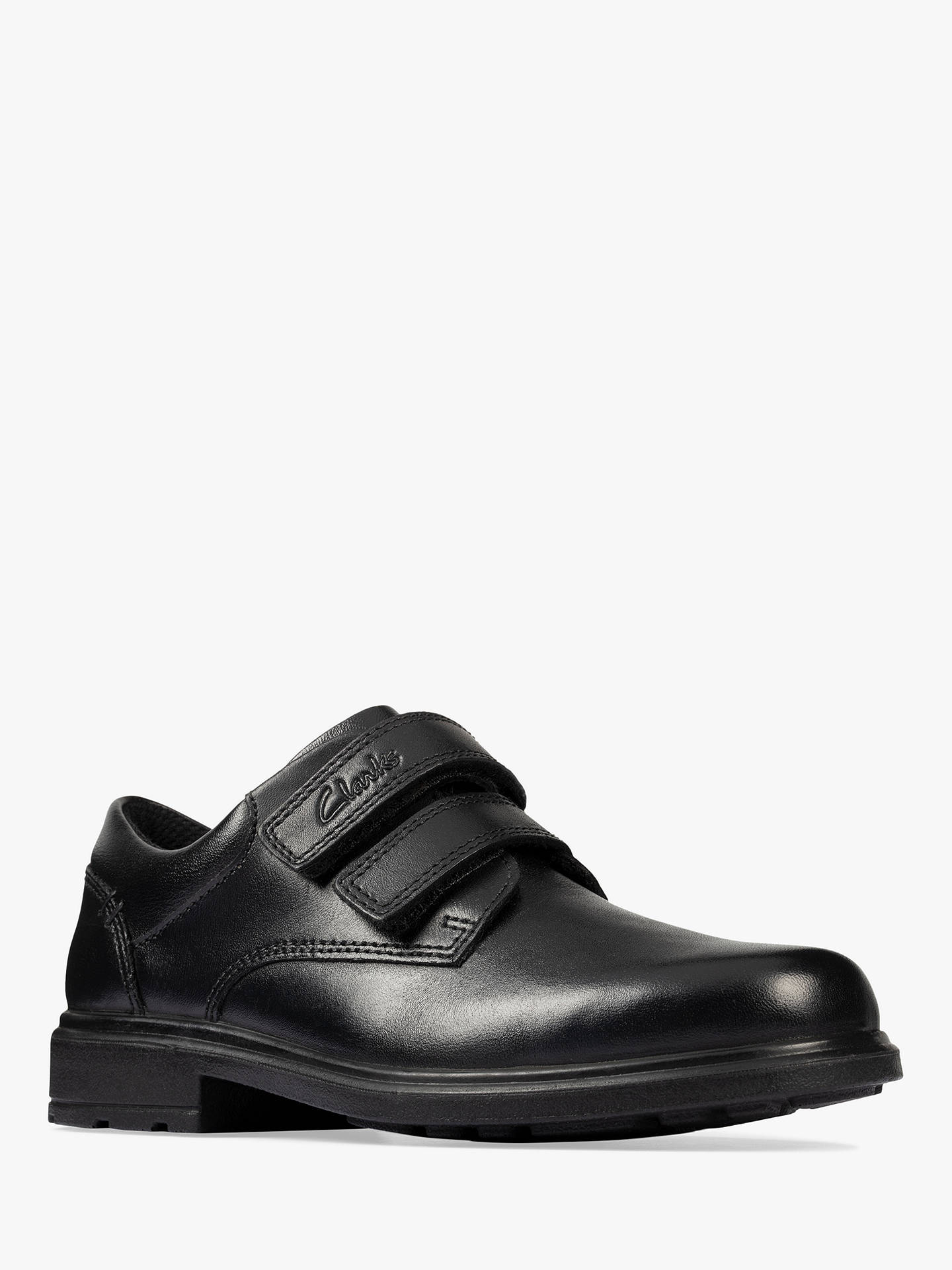 Buy Clarks Children's Remi Pace Leather School Shoes, Black, 1F Online at johnlewis.com