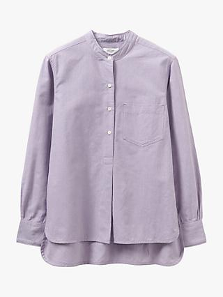 Toast Long Oxford Cotton Shirt, Lilac