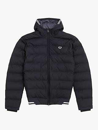 Fred Perry Hooded Insulated Jacket, C102 Black