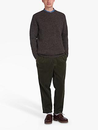 Barbour White Label Bow Crew Jumper, Black Marl