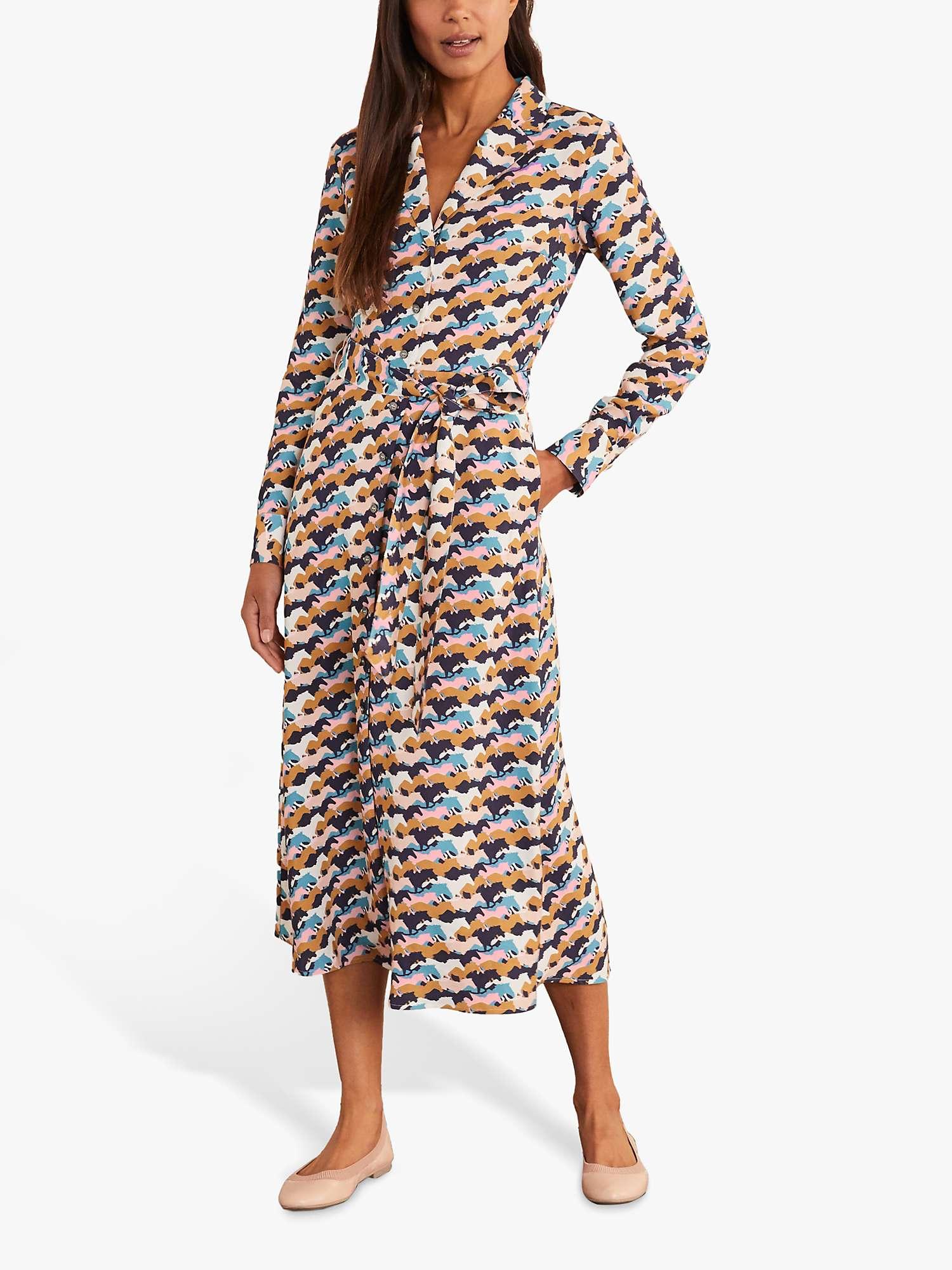 Boden Ottilie Horse Print Shirt Dress Navy At John Lewis Partners