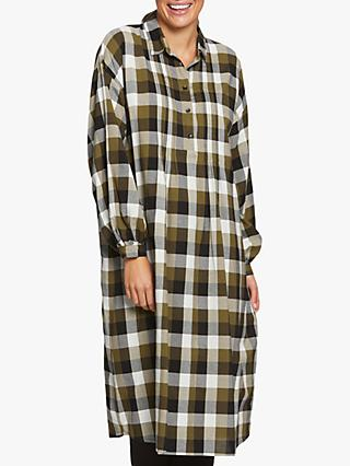 Masai Copenhagen Long Sleeved Check Print Dress, Lizard