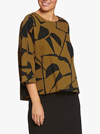 Masai Copenhagen Darla Abstract Print Box Top, Tapenada