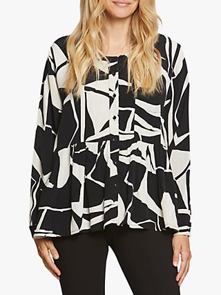 Masai Copenhagen Imelda Abstract Print Top, Black/White