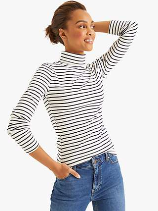 Boden Essential Stripe Roll Neck Top