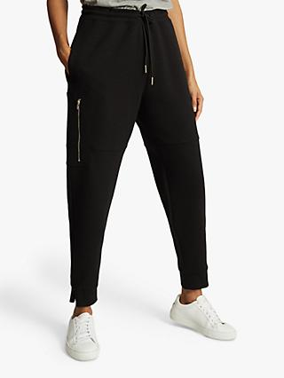 Reiss Angelina Jersey Joggers, Black