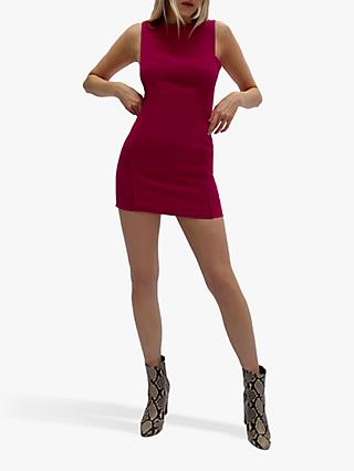 French Connection Thera Whisper Sleeveless Mini Dress, Pink Cerise