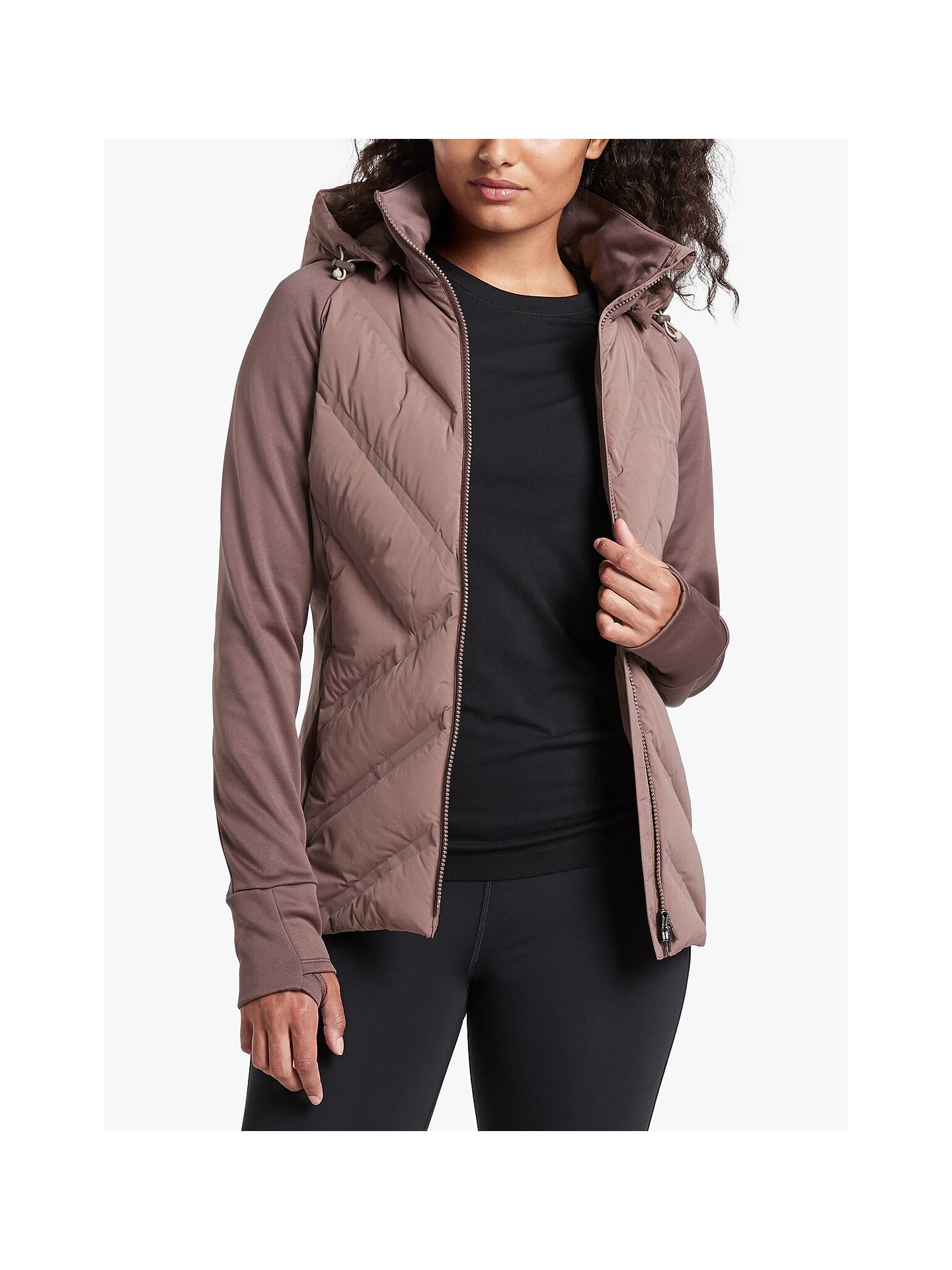 Buy Athleta Inlet Jacket, Brown, XS Online at johnlewis.com