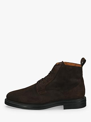 GANT Kyree Suede Chukka Boot, Dark Brown