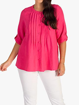 chesca Pintuck Blouse, Pink