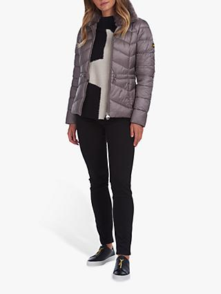 Barbour International Halfback Elasticated Waist Quilted Jacket, Grey