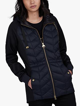 Barbour International Playoff Quilted Hoodie, Black