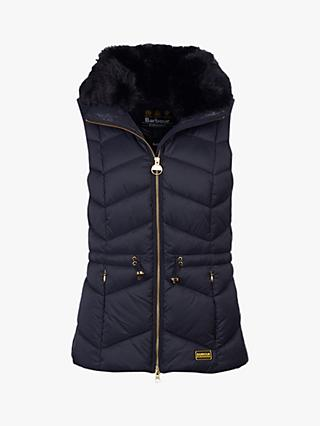 Barbour International Halfback Quilted Gilet, Black