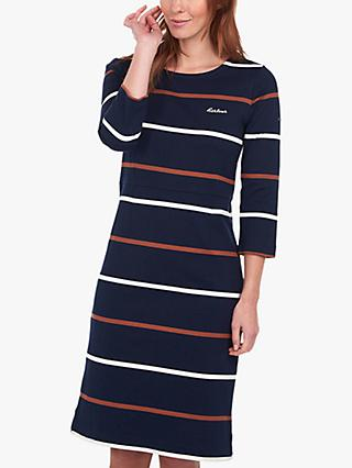 Barbour Oyster Striped Dress, Blue/Multi