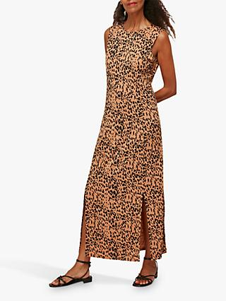 Whistles Safari Print Jersey Dress, Multi