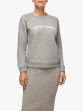 Whistles C'est Chic Cotton Sweatshirt