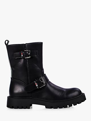 Tommy Hilfiger Children's Biker Boots, Black